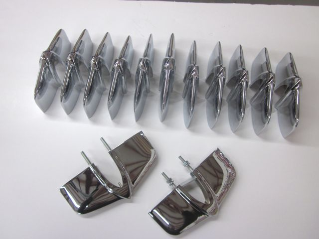1953 1954 1955 1956 1957 Corvette Grille Teeth Set of 13