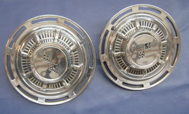 1959 Impala Hub Caps Used Original OEM x 2