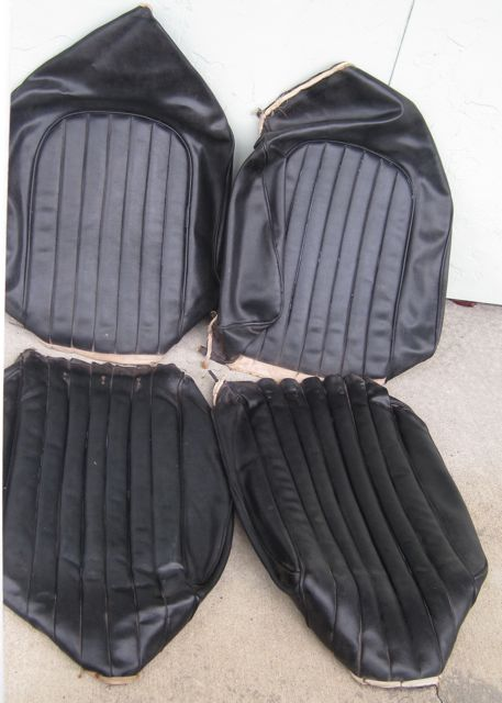 1960 Corvette Original Seat Covers Black Set