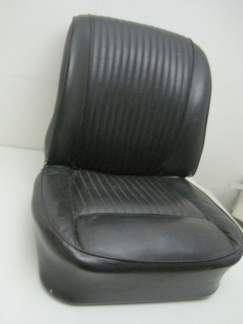 1961 thru 1962 Corvette Seat Passenger Right w Frame Black Used