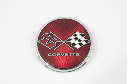 1975 76 Corvette Fuel Door Emblem Cloisonne Style New