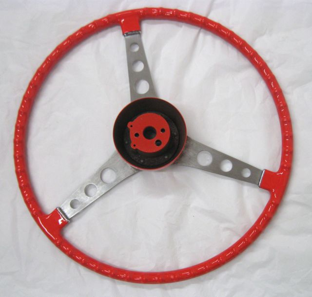 56 57 Corvette Original Steering Wheel with Hub Venetian Red