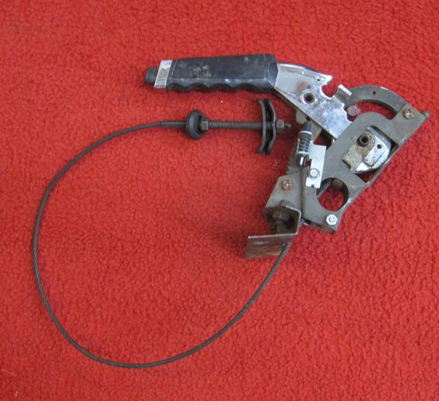 67-82 Corvette Emergency Brake Lever Handle Assembly w Cable
