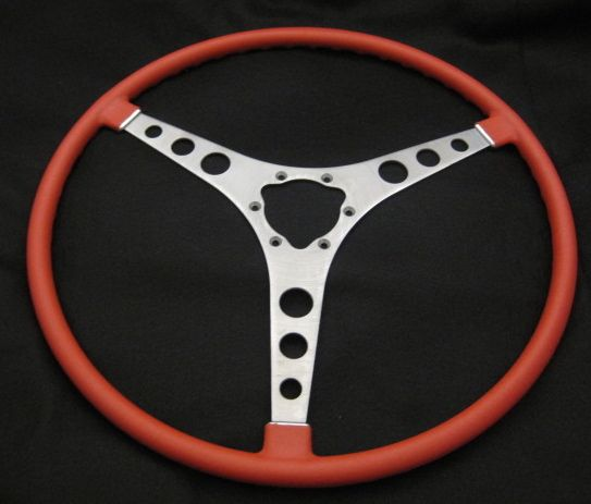 1958 thru 1962 Corvette Roman Red Steering Wheel New