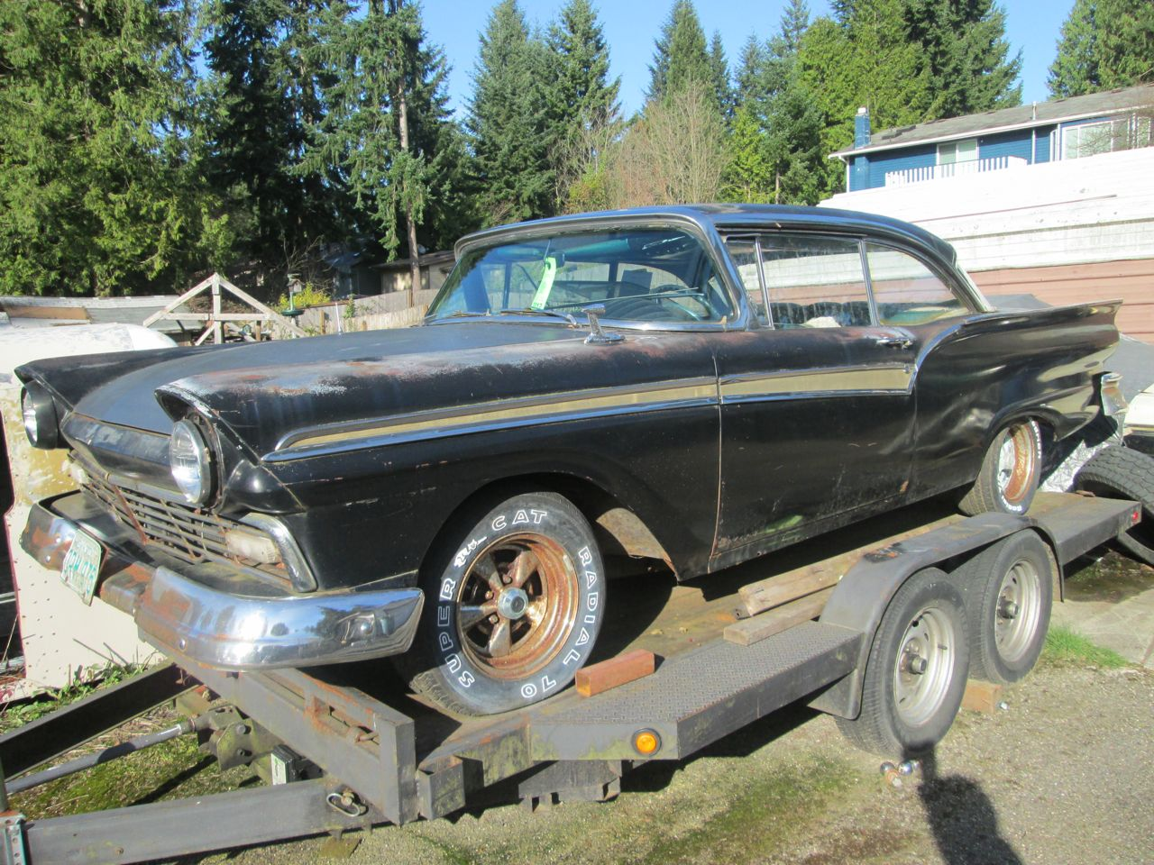 For Sale 1957 Ford Fairlane 500 2 Door 68 FE 390 Hard Top